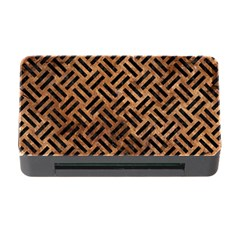 Woven2 Black Marble & Brown Stone (r) Memory Card Reader With Cf by trendistuff