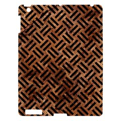Woven2 Black Marble & Brown Stone (r) Apple Ipad 3/4 Hardshell Case by trendistuff