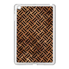 Woven2 Black Marble & Brown Stone (r) Apple Ipad Mini Case (white) by trendistuff