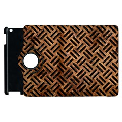 Woven2 Black Marble & Brown Stone (r) Apple Ipad 3/4 Flip 360 Case by trendistuff