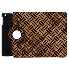 Woven2 Black Marble & Brown Stone (r) Apple Ipad Mini Flip 360 Case by trendistuff