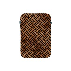 Woven2 Black Marble & Brown Stone (r) Apple Ipad Mini Protective Soft Case by trendistuff