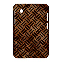 Woven2 Black Marble & Brown Stone (r) Samsung Galaxy Tab 2 (7 ) P3100 Hardshell Case  by trendistuff