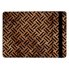 Woven2 Black Marble & Brown Stone (r) Samsung Galaxy Tab Pro 12 2  Flip Case by trendistuff