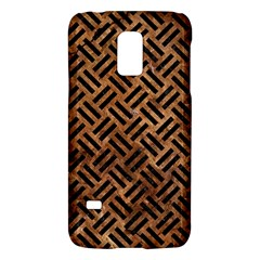 Woven2 Black Marble & Brown Stone (r) Samsung Galaxy S5 Mini Hardshell Case  by trendistuff