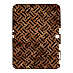 Woven2 Black Marble & Brown Stone (r) Samsung Galaxy Tab 4 (10 1 ) Hardshell Case  by trendistuff
