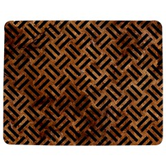 Woven2 Black Marble & Brown Stone (r) Jigsaw Puzzle Photo Stand (rectangular) by trendistuff