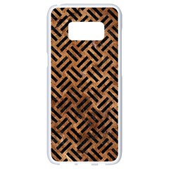 Woven2 Black Marble & Brown Stone (r) Samsung Galaxy S8 White Seamless Case by trendistuff