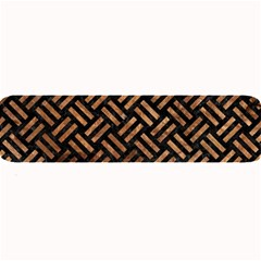 Woven2 Black Marble & Brown Stone Large Bar Mat by trendistuff