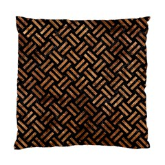 Woven2 Black Marble & Brown Stone Standard Cushion Case (one Side) by trendistuff