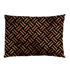 Woven2 Black Marble & Brown Stone Pillow Case by trendistuff