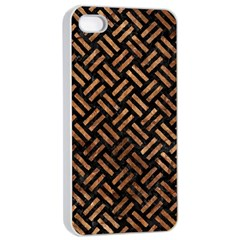 Woven2 Black Marble & Brown Stone Apple Iphone 4/4s Seamless Case (white) by trendistuff