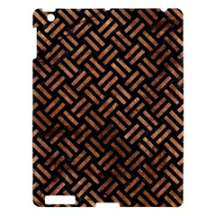 Woven2 Black Marble & Brown Stone Apple Ipad 3/4 Hardshell Case by trendistuff