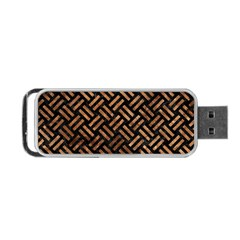 Woven2 Black Marble & Brown Stone Portable Usb Flash (one Side) by trendistuff
