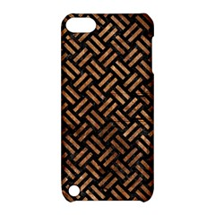 Woven2 Black Marble & Brown Stone Apple Ipod Touch 5 Hardshell Case With Stand by trendistuff