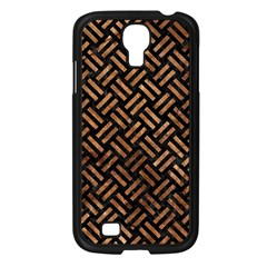 Woven2 Black Marble & Brown Stone Samsung Galaxy S4 I9500/ I9505 Case (black) by trendistuff