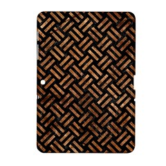 Woven2 Black Marble & Brown Stone Samsung Galaxy Tab 2 (10 1 ) P5100 Hardshell Case  by trendistuff