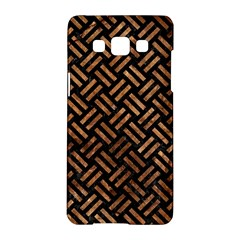 Woven2 Black Marble & Brown Stone Samsung Galaxy A5 Hardshell Case  by trendistuff