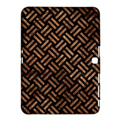Woven2 Black Marble & Brown Stone Samsung Galaxy Tab 4 (10 1 ) Hardshell Case  by trendistuff