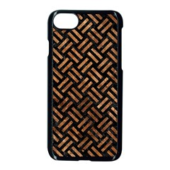 Woven2 Black Marble & Brown Stone Apple Iphone 7 Seamless Case (black) by trendistuff