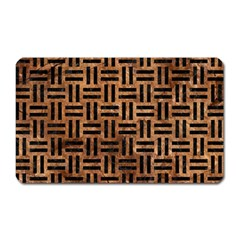 Woven1 Black Marble & Brown Stone (r) Magnet (rectangular) by trendistuff
