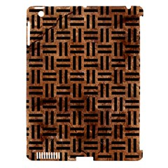 Woven1 Black Marble & Brown Stone (r) Apple Ipad 3/4 Hardshell Case (compatible With Smart Cover) by trendistuff