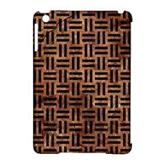 Woven1 Black Marble & Brown Stone (r) Apple Ipad Mini Hardshell Case (compatible With Smart Cover) by trendistuff