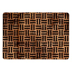 Woven1 Black Marble & Brown Stone (r) Samsung Galaxy Tab 10 1  P7500 Flip Case by trendistuff
