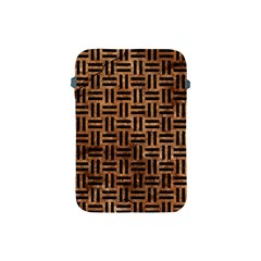 Woven1 Black Marble & Brown Stone (r) Apple Ipad Mini Protective Soft Case by trendistuff