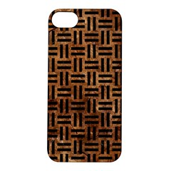 Woven1 Black Marble & Brown Stone (r) Apple Iphone 5s/ Se Hardshell Case by trendistuff