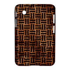 Woven1 Black Marble & Brown Stone (r) Samsung Galaxy Tab 2 (7 ) P3100 Hardshell Case  by trendistuff