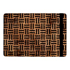 Woven1 Black Marble & Brown Stone (r) Samsung Galaxy Tab Pro 10 1  Flip Case by trendistuff