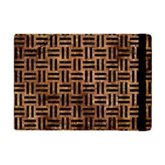 Woven1 Black Marble & Brown Stone (r) Apple Ipad Mini 2 Flip Case by trendistuff