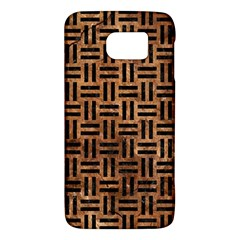 Woven1 Black Marble & Brown Stone (r) Samsung Galaxy S6 Hardshell Case