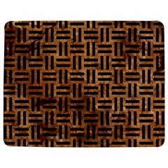 Woven1 Black Marble & Brown Stone (r) Jigsaw Puzzle Photo Stand (rectangular) by trendistuff