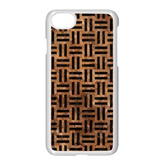 Woven1 Black Marble & Brown Stone (r) Apple Iphone 7 Seamless Case (white) by trendistuff