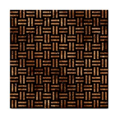Woven1 Black Marble & Brown Stone Face Towel by trendistuff