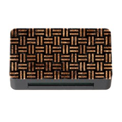 Woven1 Black Marble & Brown Stone Memory Card Reader With Cf by trendistuff