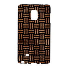 Woven1 Black Marble & Brown Stone Samsung Galaxy Note Edge Hardshell Case by trendistuff