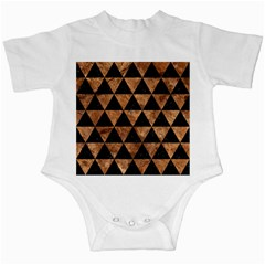 Triangle3 Black Marble & Brown Stone Infant Creeper
