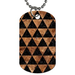 Triangle3 Black Marble & Brown Stone Dog Tag (two Sides) by trendistuff