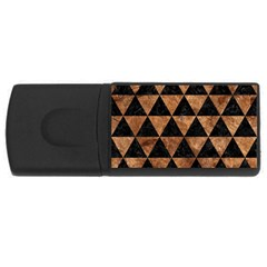 Triangle3 Black Marble & Brown Stone Usb Flash Drive Rectangular (4 Gb)