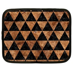 Triangle3 Black Marble & Brown Stone Netbook Case (large) by trendistuff