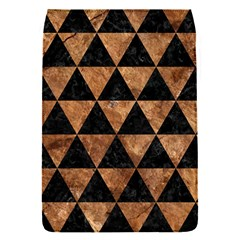 Triangle3 Black Marble & Brown Stone Removable Flap Cover (s) by trendistuff