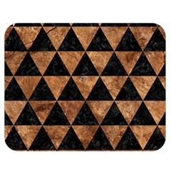 Triangle3 Black Marble & Brown Stone Double Sided Flano Blanket (medium) by trendistuff