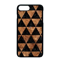 Triangle3 Black Marble & Brown Stone Apple Iphone 7 Plus Seamless Case (black) by trendistuff