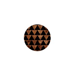 Triangle2 Black Marble & Brown Stone 1  Mini Magnet by trendistuff