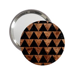 Triangle2 Black Marble & Brown Stone 2 25  Handbag Mirror by trendistuff