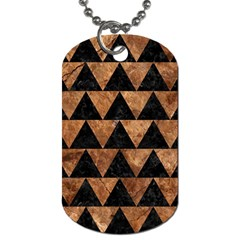 Triangle2 Black Marble & Brown Stone Dog Tag (two Sides) by trendistuff
