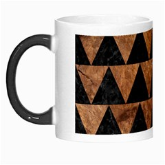 Triangle2 Black Marble & Brown Stone Morph Mug by trendistuff